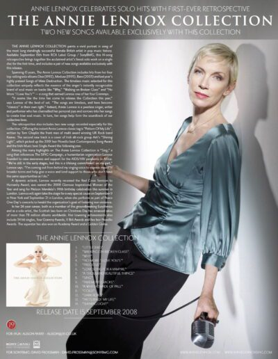 2008-09-01 – Annie Lennox – The Annie Lennox Collection from The UK ID: 3102