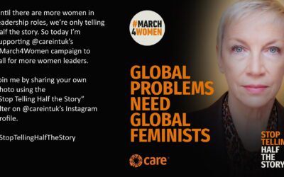 Join Annie Lennox in supporting Care International's #March4Women campaign?to call for more women leaders.