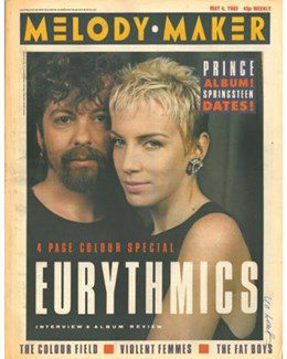 1985-05-04 - Eurythmics - Melody Maker from The UK ID: 0377