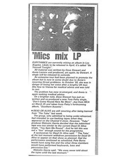1985-05-16 - Eurythmics - Melody Maker from The UK ID: 0385