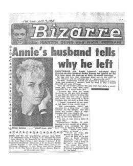 1985-10-09 - Annie Lennox - The Sun from The UK ID: 0432