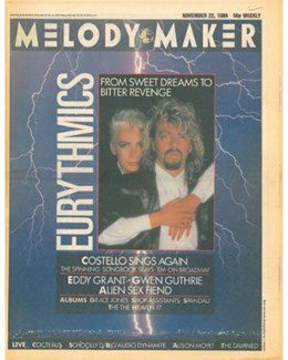 1986-11-22 - Eurythmics - Melody Maker from The UK ID: 0544