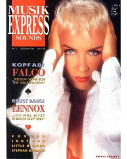 1986-12-01 - Eurythmics - Musik Express Sounds from  Germany ID: 0549