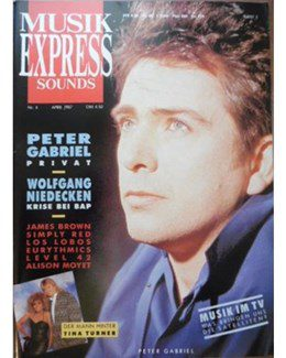 1987-04-01 - Eurythmics - Musik Express Sounds from  Germany ID: 0596