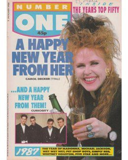 1988-01-02 - Eurythmics - No. 1 from The UK ID: 0657