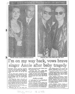 1989-02-14 - Annie Lennox - Daily Mail from The UK ID: 0711