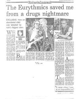 1989-08-09 - Dave Stewart - Daily Mail from The UK ID: 0731
