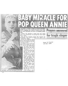 1990-12-16 – Annie Lennox – News Of The World from The UK ID: 0871
