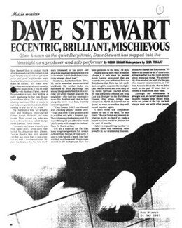 1991-03-24 - Dave Stewart - The Sunday Mirror from The UK ID: 0888