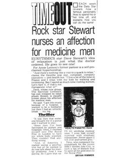 1991-11-22 - Dave Stewart - Daily Star from The UK ID: 0932