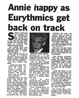 1992-03-07 - Annie Lennox - Daily Express from The UK ID: 0951