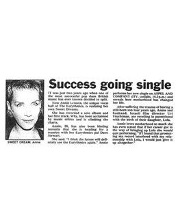 1992-03-14 - Annie Lennox - Daily Express from The UK ID: 0953