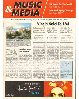 1992-03-21 - Annie Lennox - Music & Media from The UK ID: 0962