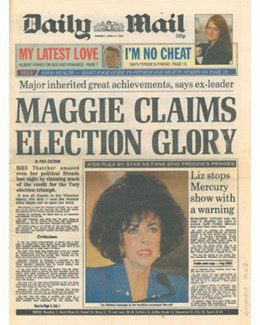 1992-04-21 - Annie Lennox - Daily Mail from The UK ID: 0982