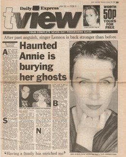1993-01-30 - Annie Lennox - Daily Express from The UK ID: 1050