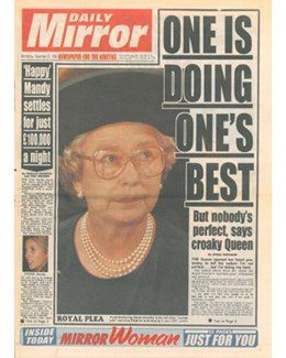 1993-11-25 - Annie Lennox - Daily Mirror from The UK ID: 1080