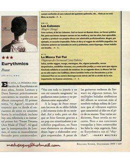 1999-12-21 - Eurythmics - Rolling Stone from  Argentina ID: 1248