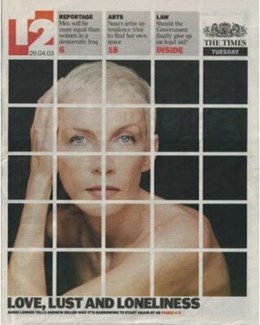 2003-04-29 - Annie Lennox - The Times - T2 from The UK ID: 1310