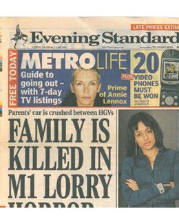 2003-06-05 - Annie Lennox - Evening Standard - Metro Life from The UK ID: 1332