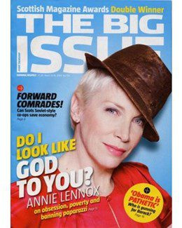 2009-03-12 - Annie Lennox - The Big Issue - Scotland from The UK ID: 1545