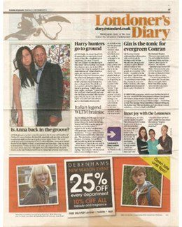 2012-09-13 - Annie Lennox - Evening Standard from The UK ID: 1654