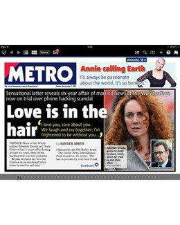 2013-11-01 - Annie Lennox - Metro from The UK ID: 1669