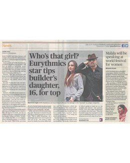 2014-02-26 - Dave Stewart - Evening Standard from The UK ID: 1673