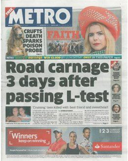 2015-03-09 - Annie Lennox - Metro from The UK ID: 1723