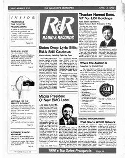 1990-04-13 - Dave Stewart - Radio & Records from The USA ID: 1858
