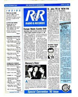 1992-06-12 - Dave Stewart - Radio & Records from The USA ID: 1863