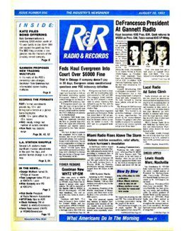 1992-08-28 - Annie Lennox - Radio & Records from The USA ID: 1864