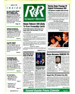 1995-03-17 - Annie Lennox - Radio & Records from The USA ID: 1866