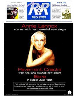 2003-05-16 - Annie Lennox - Radio & Records from The USA ID: 1875