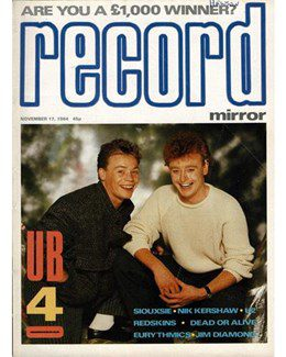 1984-11-17 - Eurythmics - Record Mirror from The UK ID: 1979