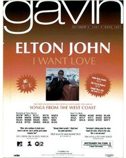 2001-10-05 - Eurythmics - The Gavin Report from The USA ID: 2045