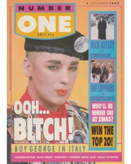 1987-12-05 - Eurythmics - No. 1 from The UK ID: 2232