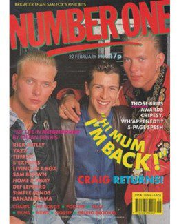 1989-02-22 - Eurythmics - No. 1 from The UK ID: 2247