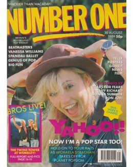 1989-08-30 - Eurythmics - No. 1 from The UK ID: 2250
