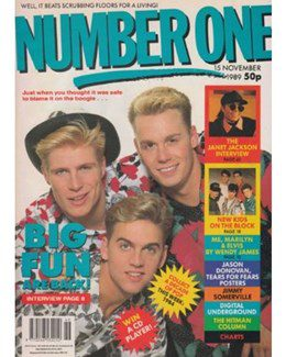 1989-11-15 - Eurythmics - No. 1 from The UK ID: 2257