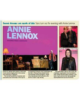 2019-09-30 – Annie Lennox – Evening Times from The UK ID: 2672