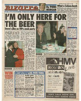 1992-10-22 - Dave Stewart - The Sun from The UK ID: 2778