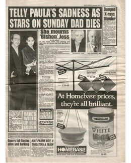 1993-04-10 - Dave Stewart - Daily Mirror from The UK ID: 2853