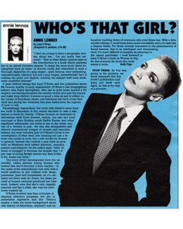 1991-12-31 - Annie Lennox - Vox from The UK ID: 2916