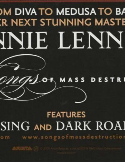 2007-09-01 – Annie Lennox – Songs Of Mass Destruction from The USA ID: 3277