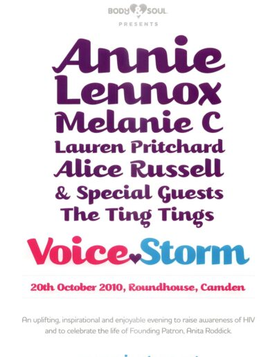 2010-10-20 – Annie Lennox – Voice Storm from The UK ID: 3256
