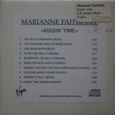 6666 – Dave Stewart And Marianne Faithfull – Kissin Time – France – Promo CD – CDR