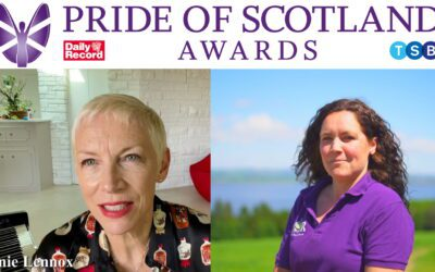 Annie Lennox appeared on The Pride Of Scotland awards last week to recognise Karen Morrison for her work at the charity STAR.