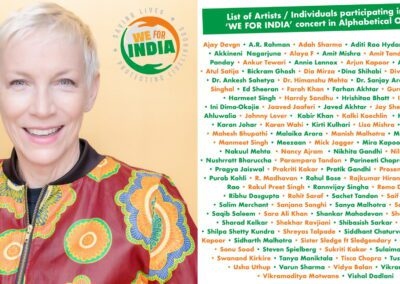 """Annie Lennox, Mick Jagger & Ed Sheerhan are uniting to support the Virtual Fundraiser """"We For India"""" to Raise Vital Funds for Post-Covid Relief Work in India"""