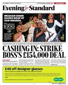 2018-10-11 - Annie Lennox - Evening Standard from The UK ID: 1813