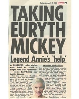 2017-07-01 - Annie Lennox - The Sun from The UK ID: 1970